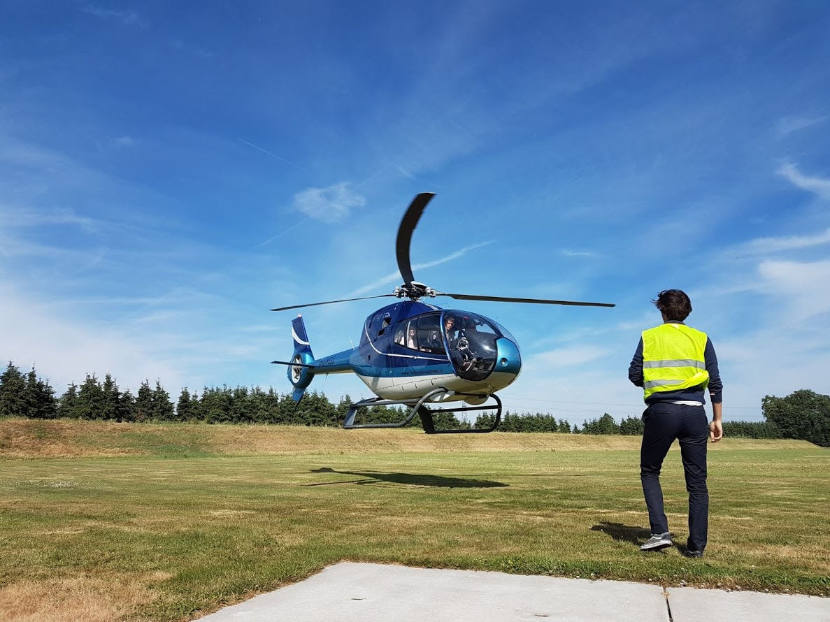Helikopterdropping Veluwe